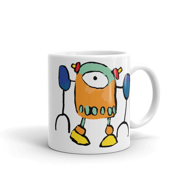 ROBO7, White Mug Right | Skully & friends