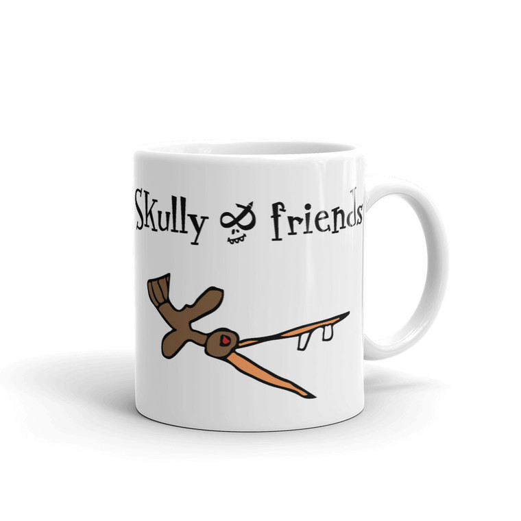CRAZY BIRD, White Mug Right | Skully & friends