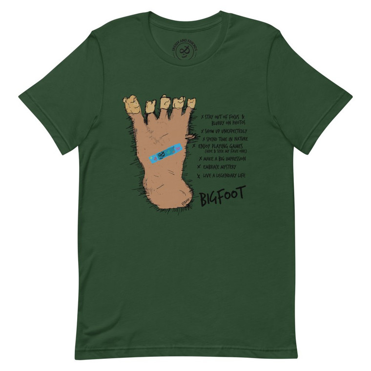 BIGFOOT,  Forest Green T-shirt | Skully & friends