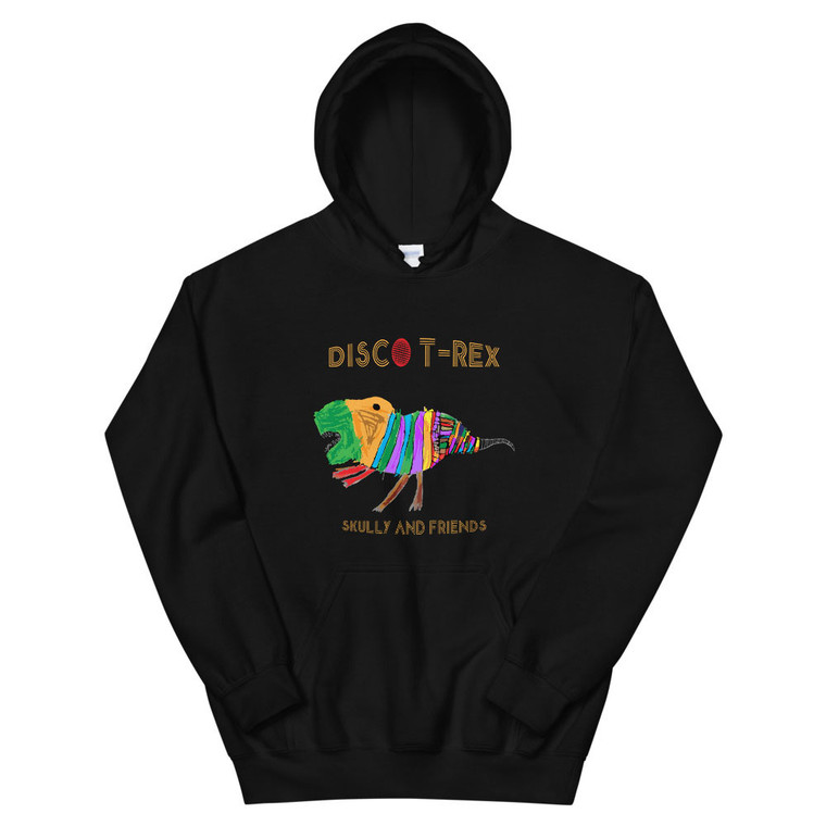 DISCO T- REX,  Black Hoodie | Skully & friends