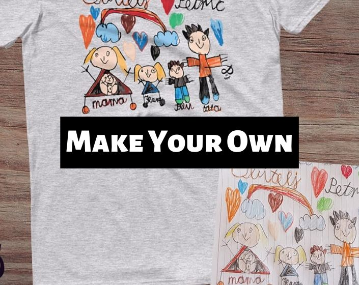 Personalized T-shirt with kids drawing