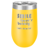 Yellow, wine tumbler, stainless steel, engravable, personalized, double wall, insulated, lid