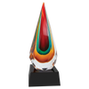 award, glass award, sculpture, engravable, personalized, rainbow, teardrop, recognition