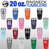 20oz Stainless Steel Tumbler Pink