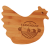 "Cutting Board Engraved Bamboo Hen Shaped 13.5"" x 10.875"""