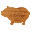 "Cutting Board Engraved Bamboo Pig Shaped 13.5"" x 8.75"""