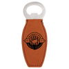 Rawhide Leatherette Magnetic Bottle Opener with Custom Laser Engraving