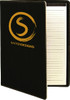 Black/Gold Leatherette Portfolio with Custom Laser Engraving