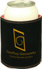 Black/Gold Leatherette Beverage Holder with Custom Laser Engraving
