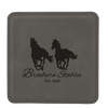 Gray Leatherette Coaster  with Custom Laser Engraving