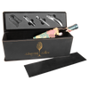 Engraved Leatherette Black/Gold Wine Box with Tools