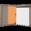 Gray Leatherette Portfolio w/ Zipper with Custom Laser Engraving