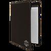 Black/Silver Leatherette Portfolio w/ Zipper with Custom Laser Engraving