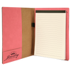 Pink Leatherette Small Portfolio with Custom Laser Engraving