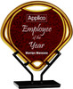"""Custom Engraved Red Fan Acrylic Award on Iron Stand (9.5"""")"""