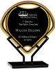 "Custom Engraved Black Fan Acrylic Award on Iron Stand (8.5"")"