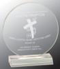 """Custom Engraved Clear Acrylic Circle Award (6"""")"""