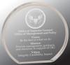 """Custom Engraved Clear Acrylic Circle Award (6"""" x 5.5"""")"""