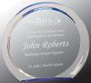 """Custom Engraved Blue Round Halo Acrylic Award (6.375"""")"""