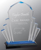 "Custom Engraved Blue Faceted Impress Acrylic Award (6"" x 9"")"