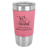 Stainless Steel Tumbler 20 oz Pink Leather Wrap