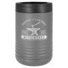 Insulated, Beverage Holder, Stainless Steel, double-walled, 12 ounce, 16 ounce, screw on lid, Dark Gray
