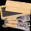 3 Piece BBQ Set in Wooden Pine Box