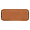 """3 1/4"""" x 1 1/4"""" Rawhide Laserable Leatherette Badge Blank with Magnet"""