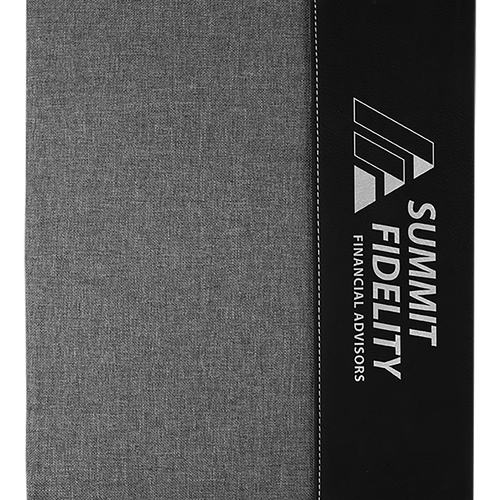 leather, leatherette, custom, porfolio, notepad, engravable, laser engrave, black, gray, silver