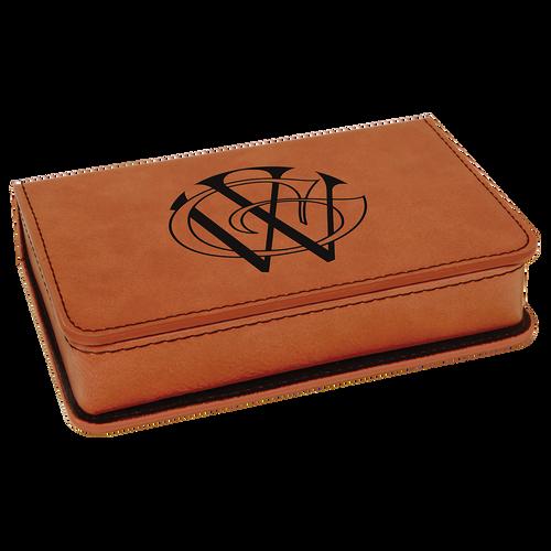 Engraved Rawhide Leatherette 2-Piece Wine Tool Set