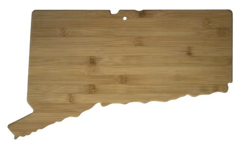 "Connecticut Shaped Bamboo Cutting Board 16.5"""