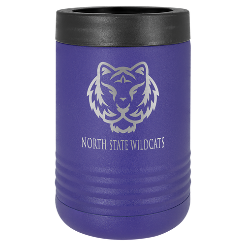 Insulated, Beverage Holder, Stainless Steel, double-walled, 12 ounce, 16 ounce, screw on lid, Purple