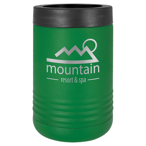 Insulated, Beverage Holder, Stainless Steel, double-walled, 12 ounce, 16 ounce, screw on lid, Green