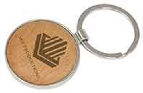 round, maple, beechwood, silver, keychain, personalize
