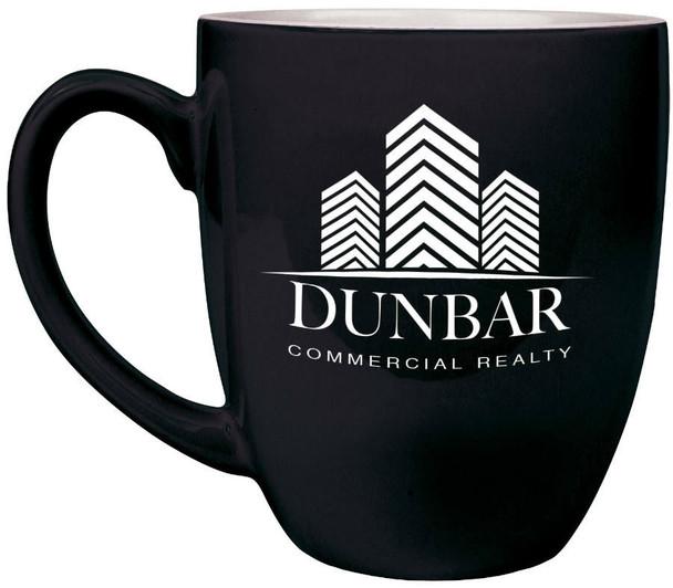 Black Coffee Mug Engraves White