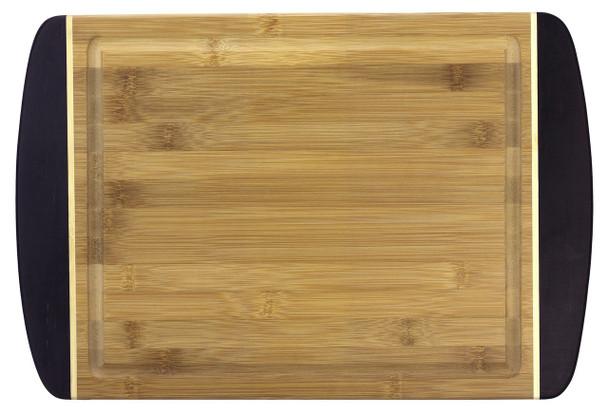 "Engraved Dark Two-Tone Bamboo Cutting Board 18"""