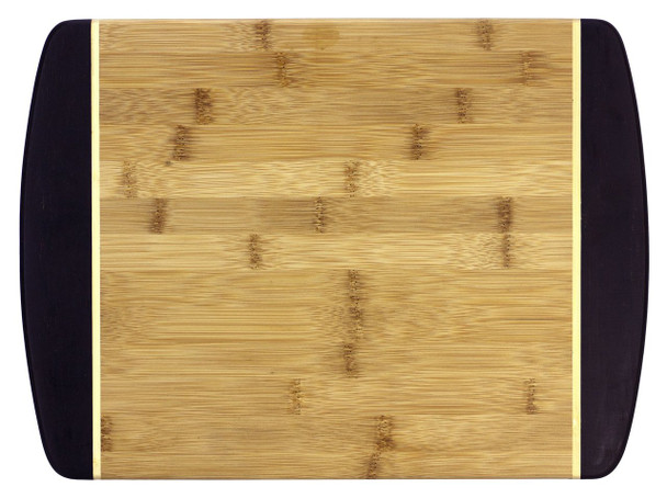 Engraved Dark Two-Tone Bamboo Cutting Board 15""