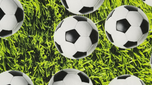 Soccer on Floral Grass - 442