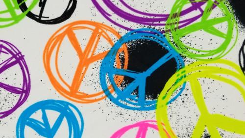 Spray Painted Peace - 442