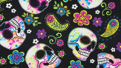 Skulls on Paisley - 442