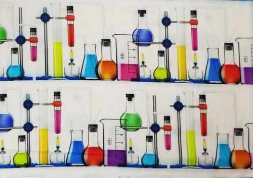 Science Beaker on White