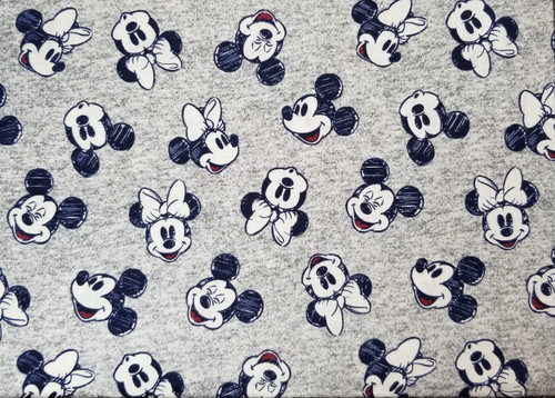 Mickey and Minnie Mouse on Grey