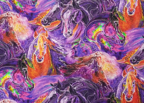 Horses on Purple