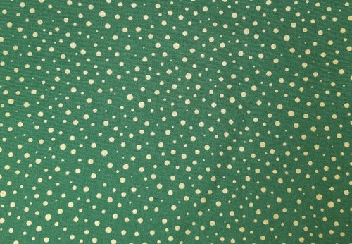 Green with Gold Dots