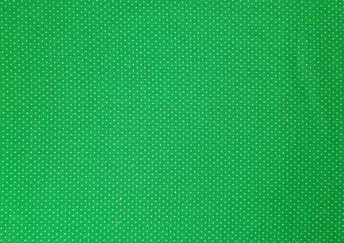 Kelly Green Tiny Dots
