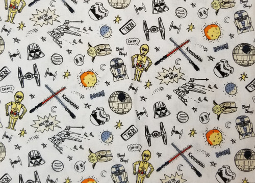 Star Wars Characters on White