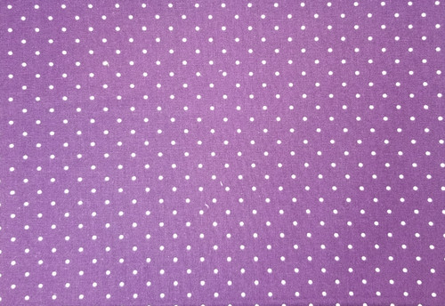 White Small Dots on Royal Purple