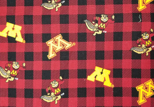 Gophers Buffalo Plaid - maron and gold