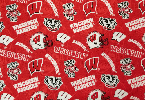 Wisconsin Badgers - football, shades of red