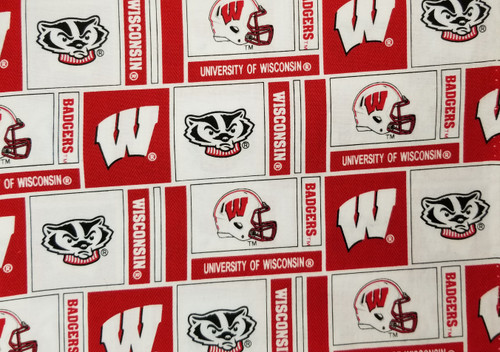 Wisconsin Badgers - football white with red helmet
